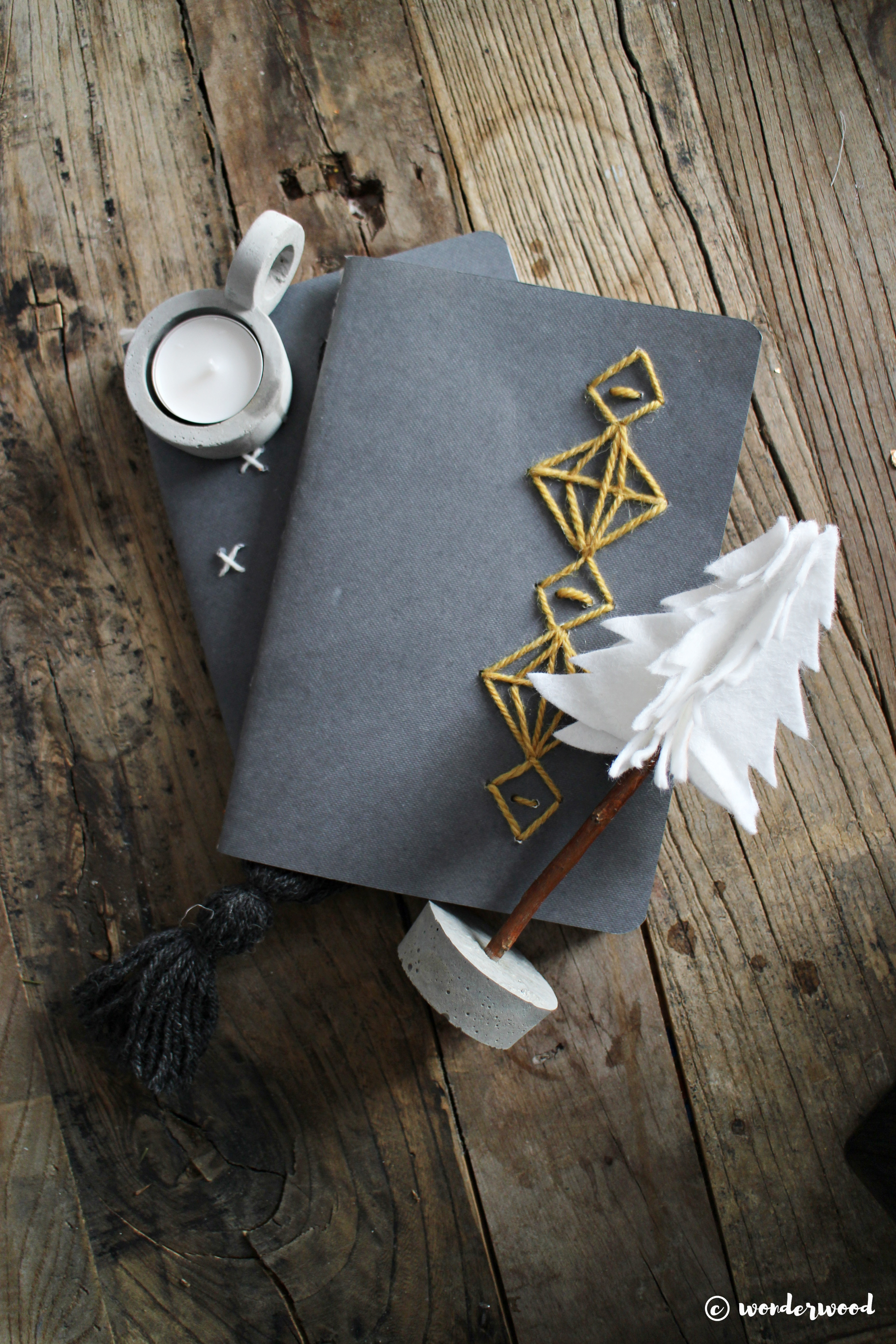TIPS TIL HJEMMELAGDE JULEGAVER 5: diy broderte notatbøker // HOMEMADE CHRISTMAS GIFTS IDEAS 5: diy embroidered notebooks