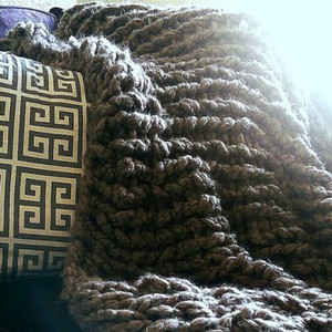 My Favorite Arm Knitting Yarn For Blankets. This Yarn Is Unique In That It  Is Both Very Bulky While Being Light And Fluffy.
