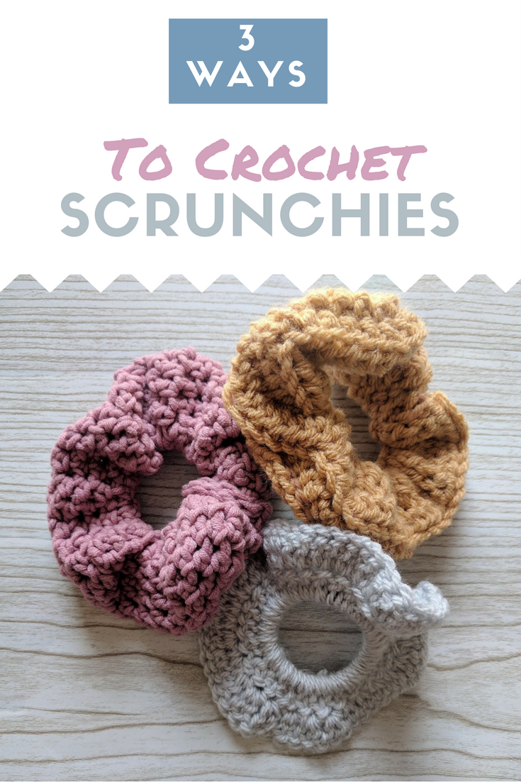 How to Crochet a Scrunchie 3 Ways   The Snugglery   Knitting and ...