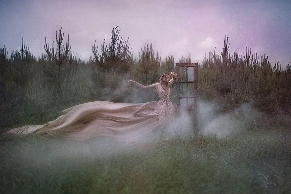 фото голая в тумане