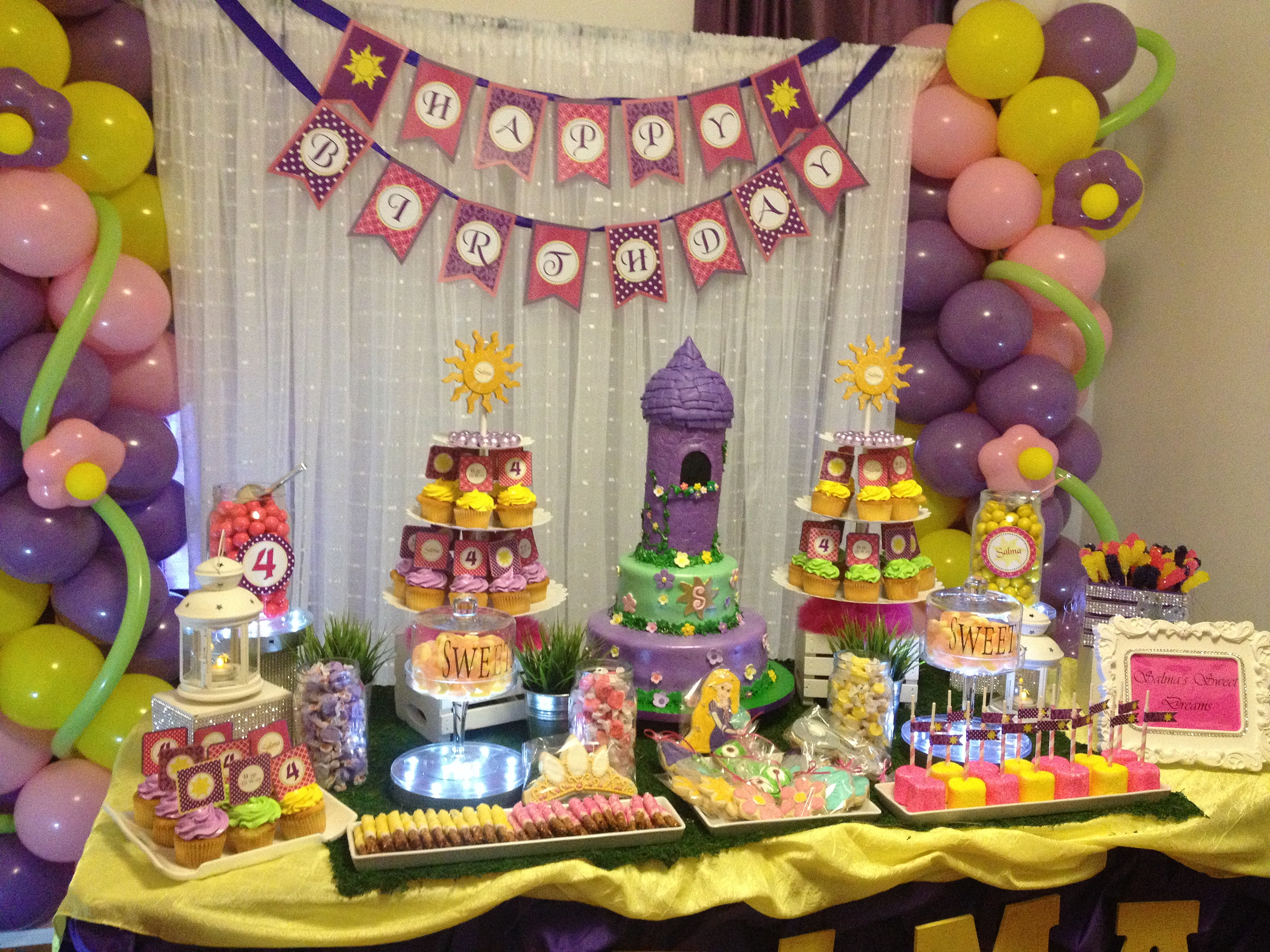 Azcona Events Nyc Azcona Floral Designs Amp Events Decor Tangled Themed Sweets Table