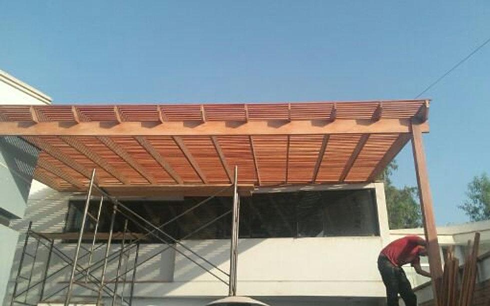 Techos para madera for Ideas techos para terrazas