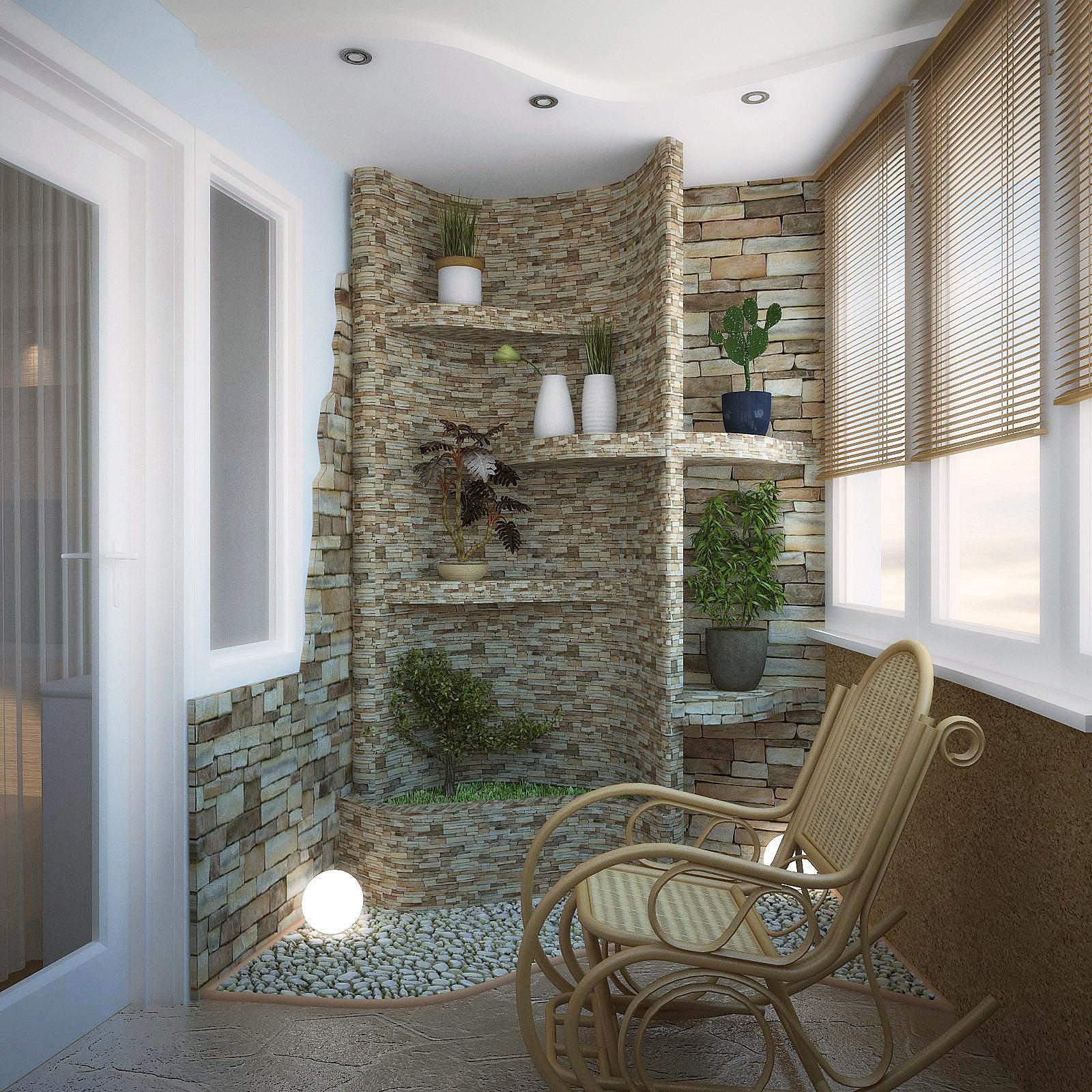 Балконы отделка искусственным камнем интересные идеи фото..