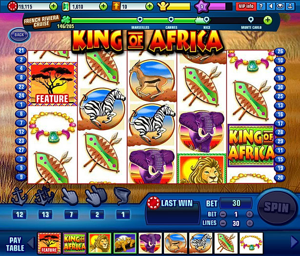 Africa Wild Slot Machine - Try your Luck on this Casino Game