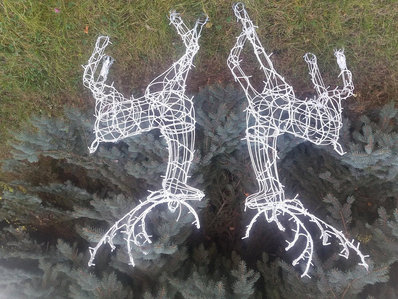 Как сделать оленя своими руками на новый год из проволоки