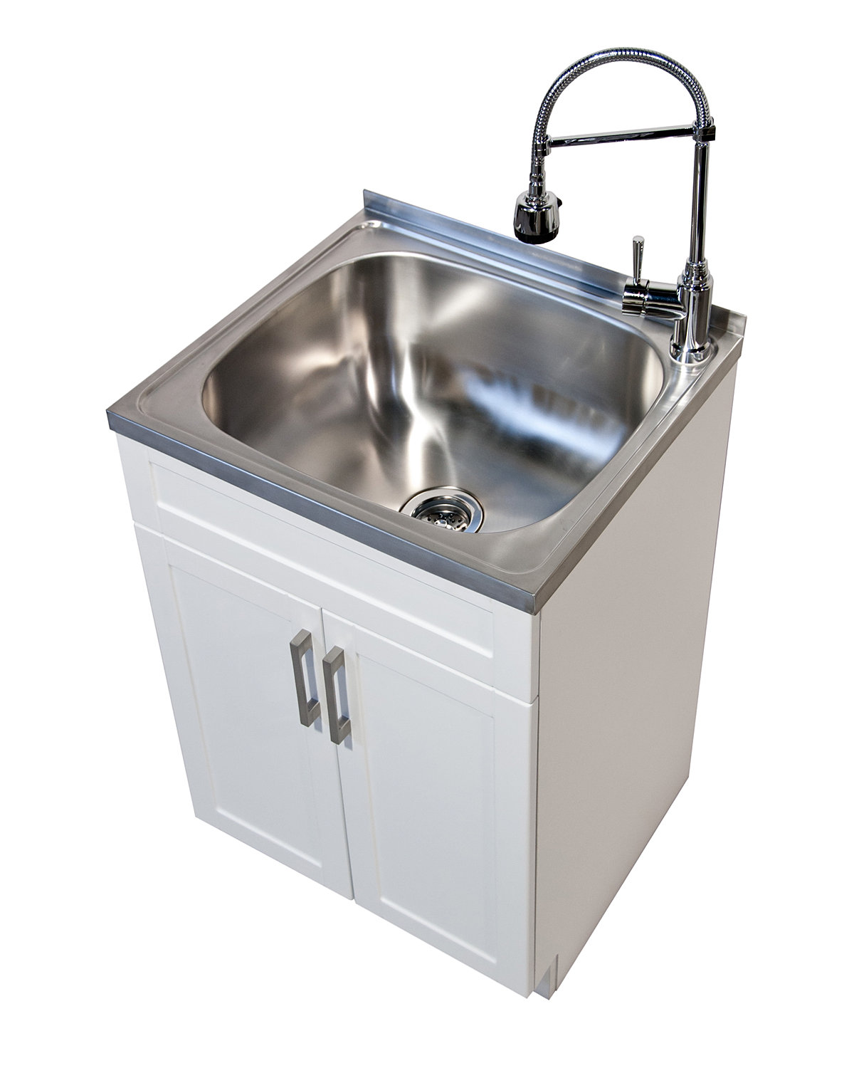 Laundry Sink Cabinet Stainless Steel : Simpli Home furniture, vanities, mirrors, laundry cabinets and patio