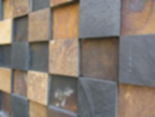 pedras decorativas, placas, mosaicos, arenito