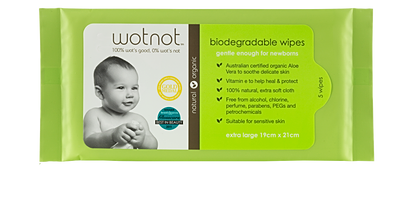 Receive a FREE Sample of Biodegradable Baby wipes