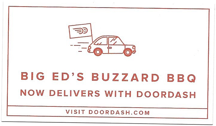 Big ed 39 s buzzard bbq where bbq lovers flock for Doordash gift card
