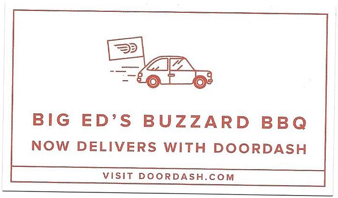 Doordash Gift Card Of Big Ed 39 S Buzzard Bbq Where Bbq Lovers Flock