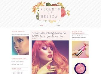 Blog de Beleza Template - Um template de beleza para quem gosta de estilo. Este template é perfeito para blogueiros de moda, o layout oferece bastante espaço para conteúdo de multimídia. Comece a editar para criar seu site incrível.