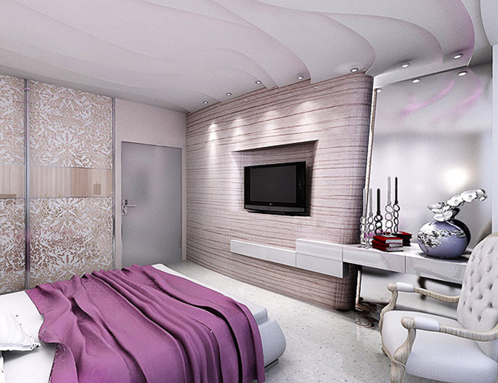 Дизайн спальни хайтек