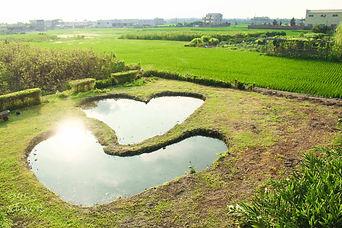彰化大村必拍景點雙心池塘