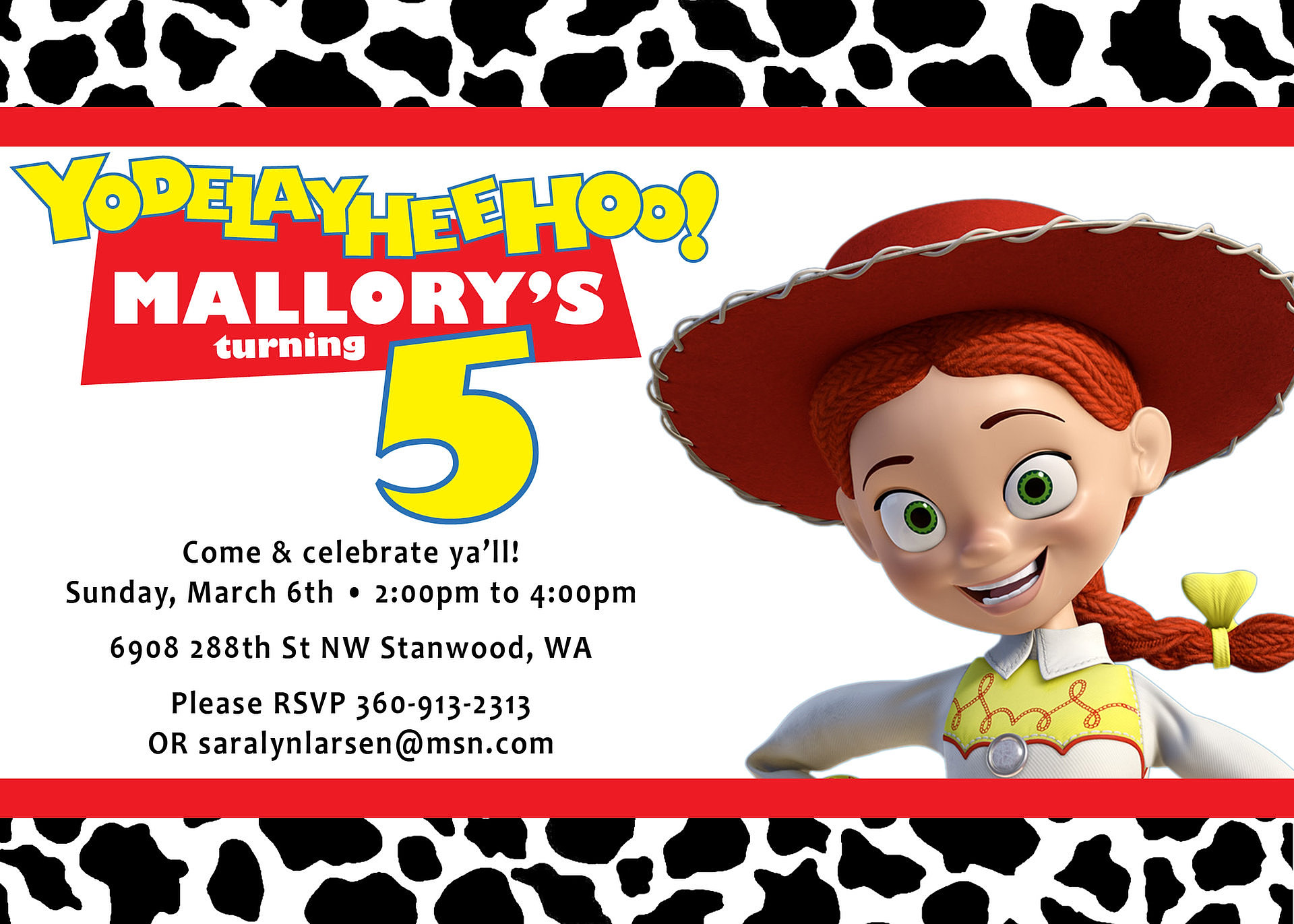 Toy Story Invite for great invitation layout