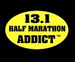 Half Marathon Addict 13.1 Stickers