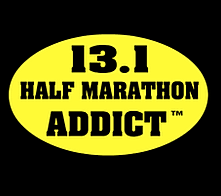 Half Marathon Addict Stickers