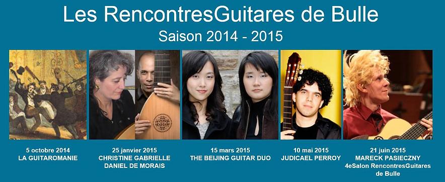 RencontresGuitares Saison 2014-2015 Daniel de Morais, Beijung Guitar Duo, Judicael Perroy, Marek Pasieczny