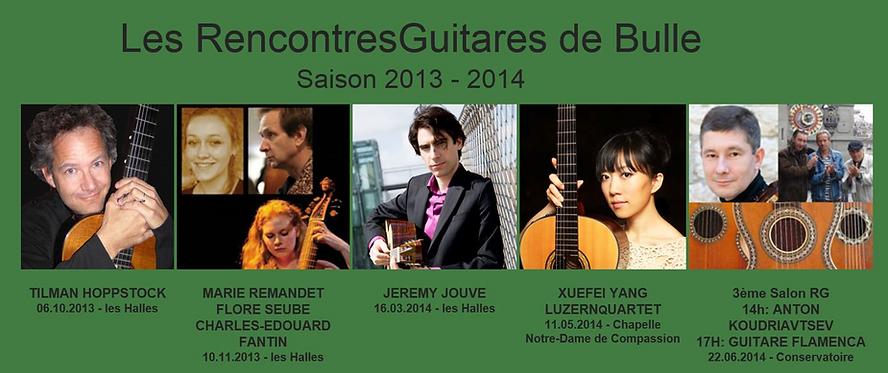 RencontresGuitares Saison 2013-2014 Hoppstock, Jouve, Xuefei Yang, Koudriatsev