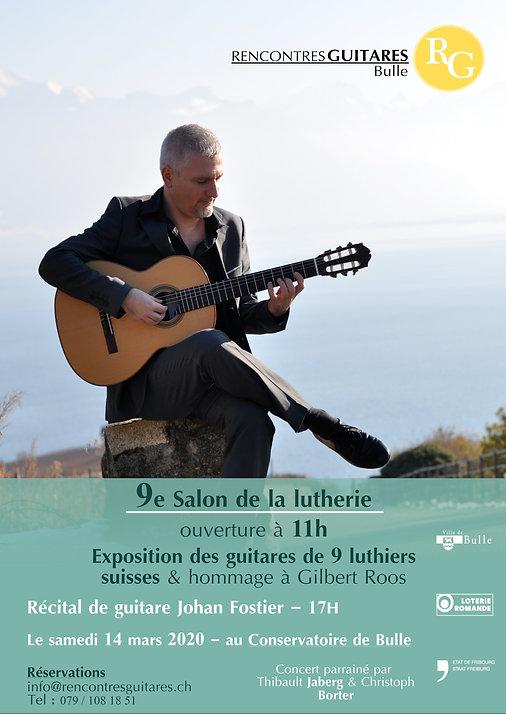 9e Salon & Johan Fostier - Concert 14 mars 2020 - Bulle - RencontresGuitares Bulle -14 mars 2020