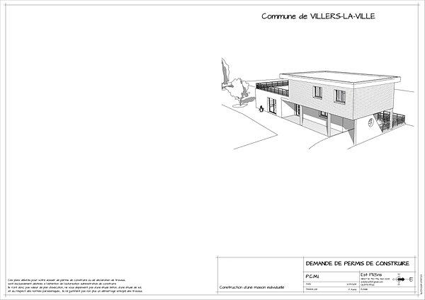 exemple permis est plans plans de permis de construire. Black Bedroom Furniture Sets. Home Design Ideas