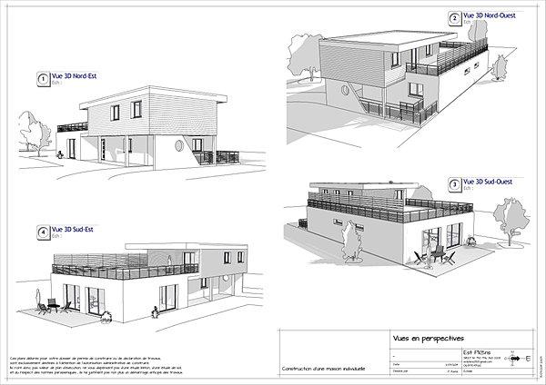 Exemple permis est plans plans de permis de construire for Plan situation permis