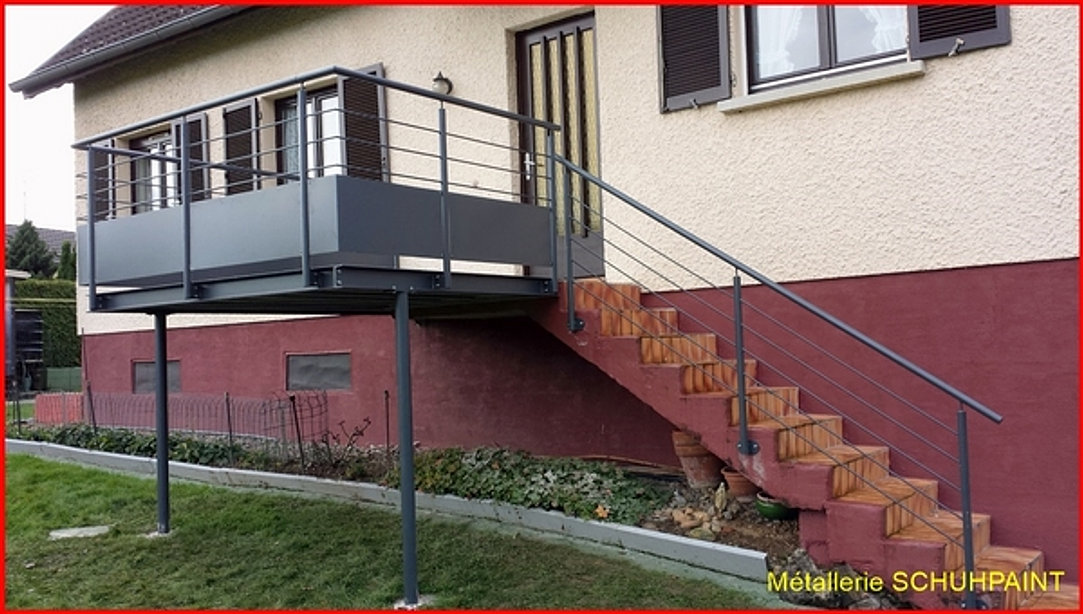 Terrasse Sur Pilotis Metallique : Terrasse M u00e9tallique SCHUHPAINT
