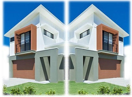 Duplex house designs spark homes for Kit homes duplex