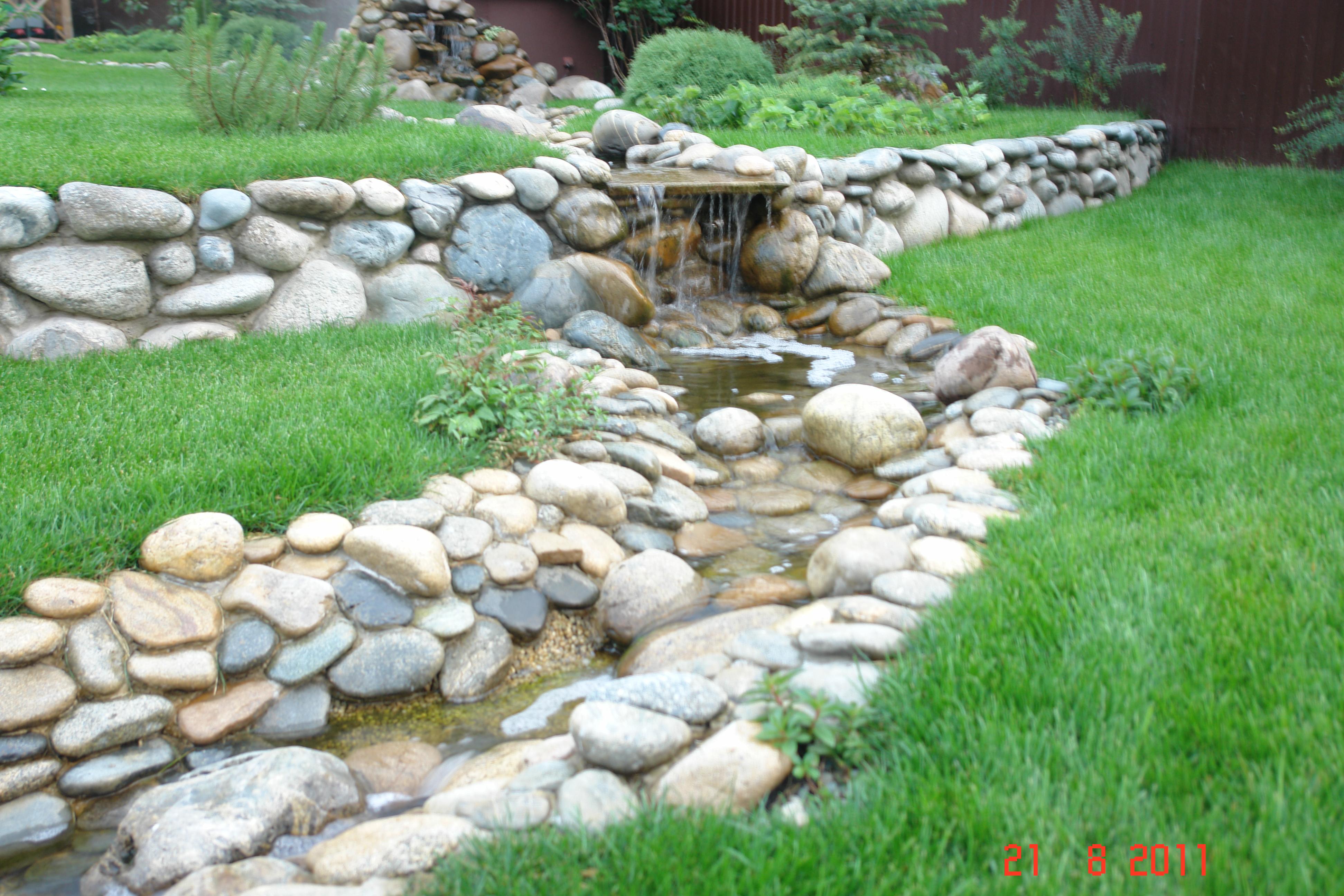 Ландшафтный дизайн из камней своими руками картинки
