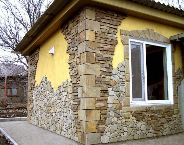 Фасад из декоративного камня своими руками 80