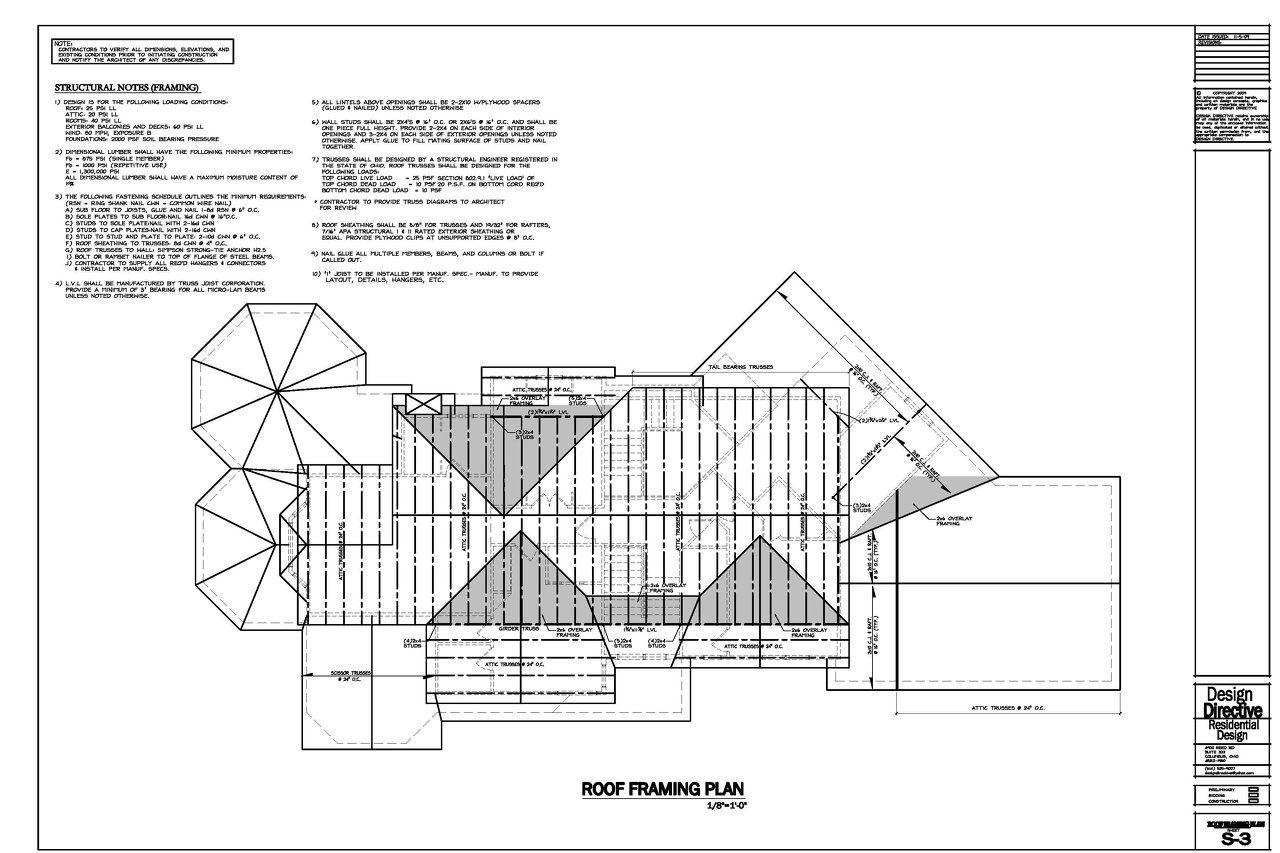 Design Directive Residential Sample drawings