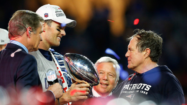 An all too familiar sight for anyone not a Patriots fan. Will we see it again this Sunday night?