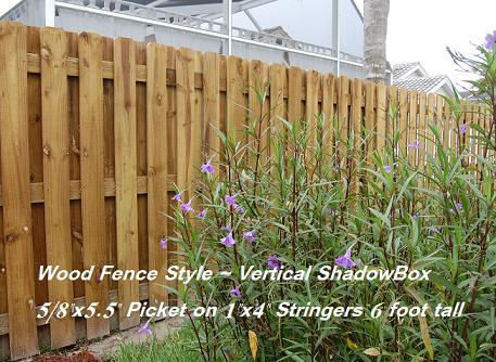wood fence style vsb 5.5 labled