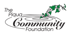 The Piqua Community Foundation logo community service support supporter FANS friends allies and neighbors