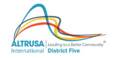 Altrusa International District Five logo leading to a better community