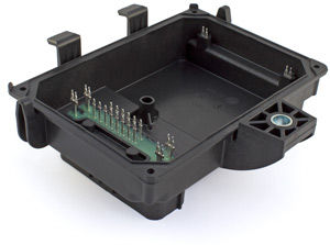 Automotive – potted insert molded press fit housing