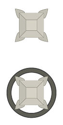 Solid Press-fit / Star drawn wire end-to-end Pin cross section