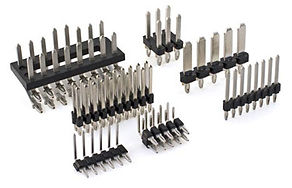 Press-fit and solder tail continuous molded headers