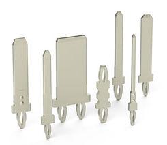 Press-fit terminals and pins