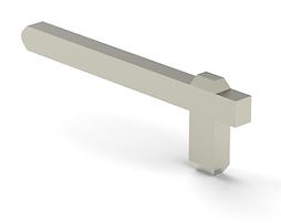 Horizontal pin connector stamped terminal