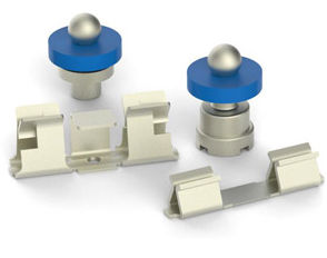 Surface mount technology products solderball pins and shield clips