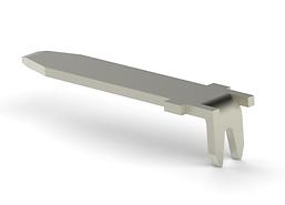 Horizontal blade connector stamped terminal