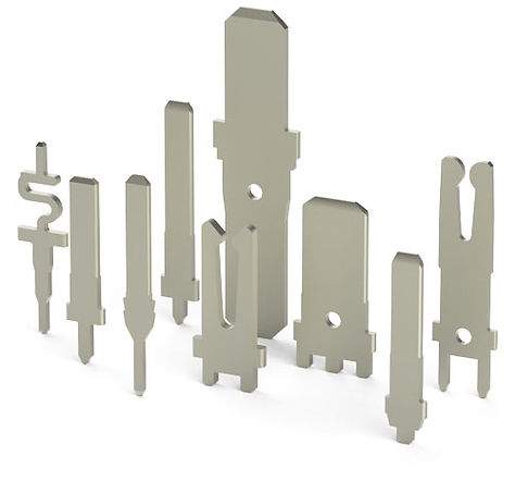 Metal Stamped terminals, Sockets, Tuning forks, Receptacles   Autosplice