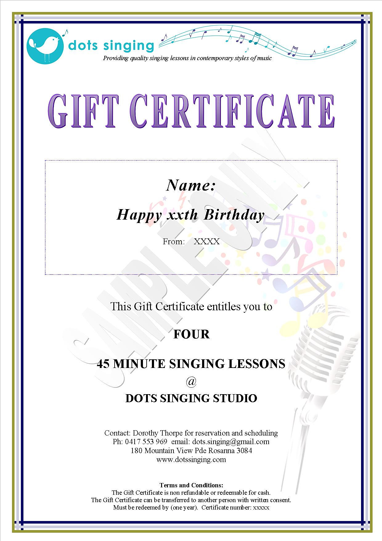 dots singing singing lessons rosanna melbourne gift dots singing singing lessons rosanna melbourne gift certificate sample dots singing