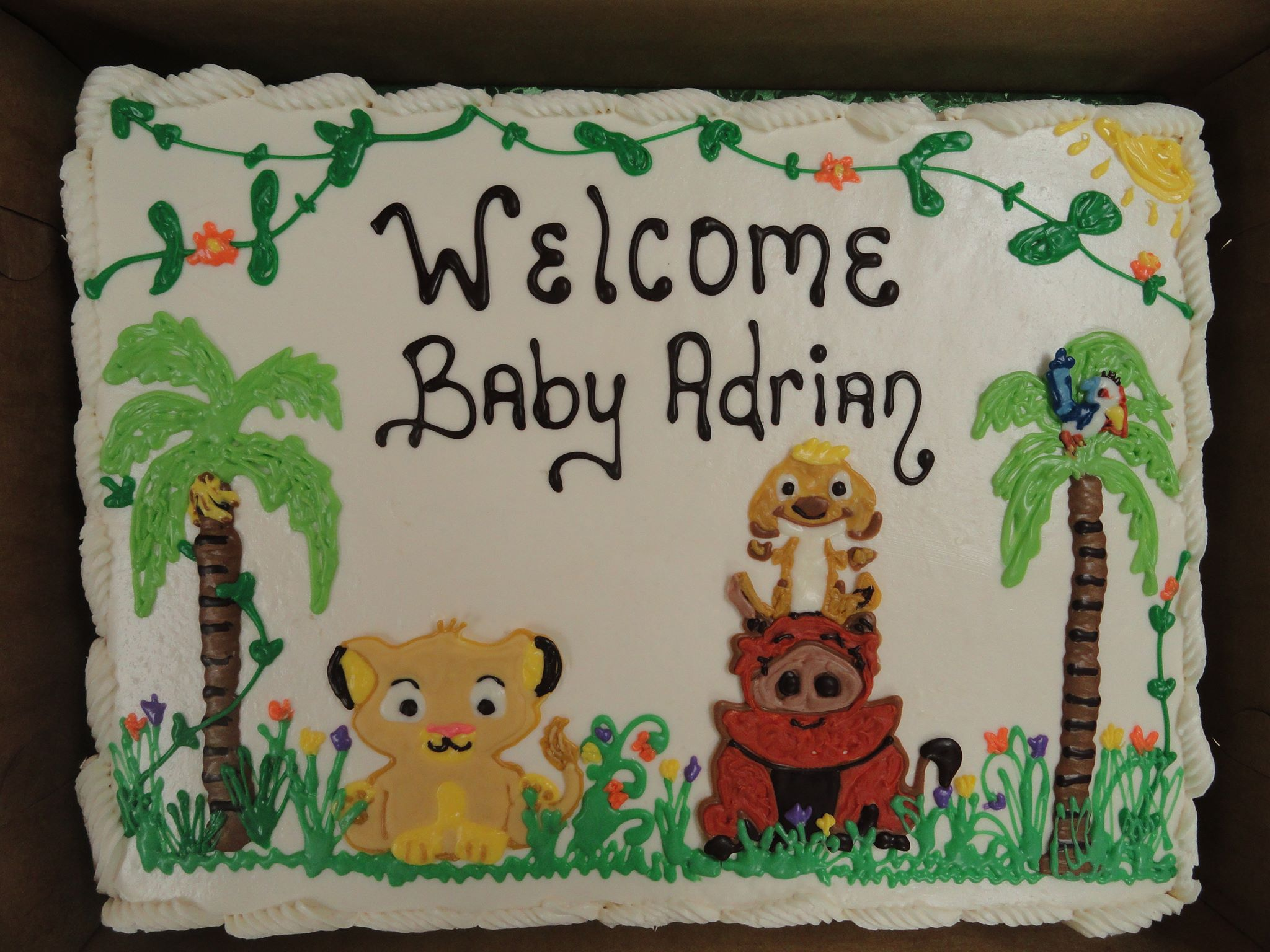 pastry cafe houston heights lion king theme baby shower cake