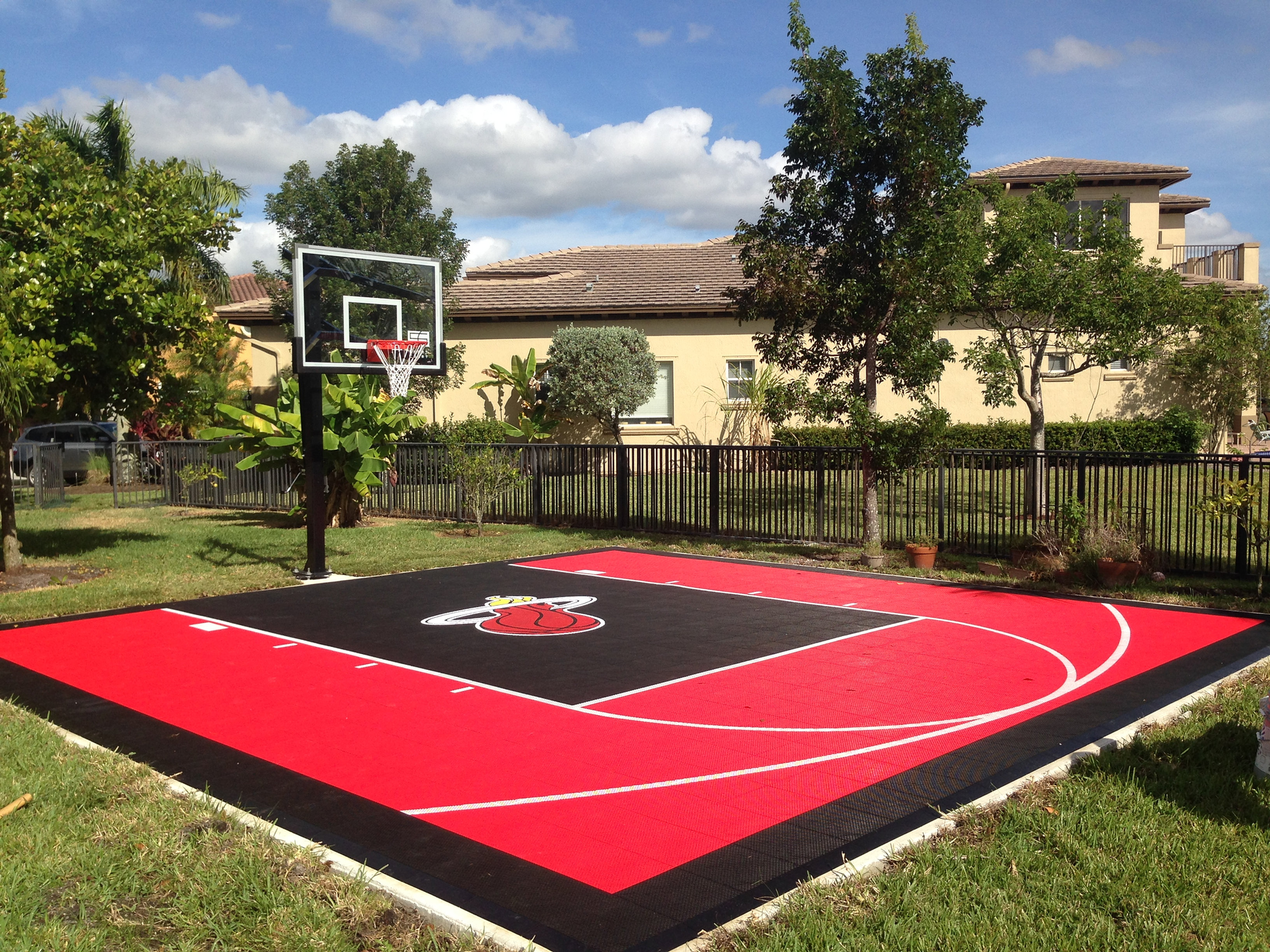 Sport court florida sport court half court 2 2 for Build your own basketball court
