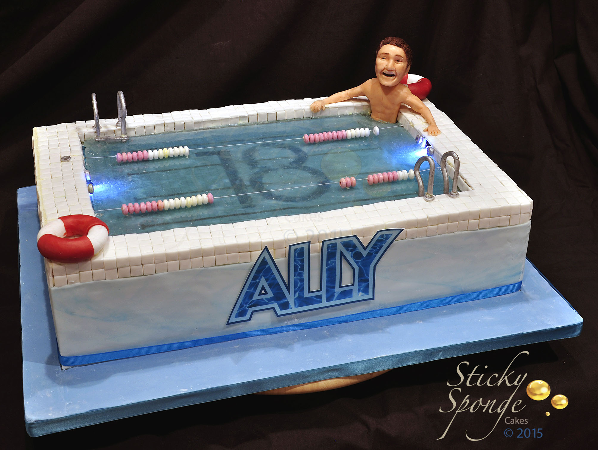 Our Latest Cake A Swimming Pool Cake Sticky Sponge