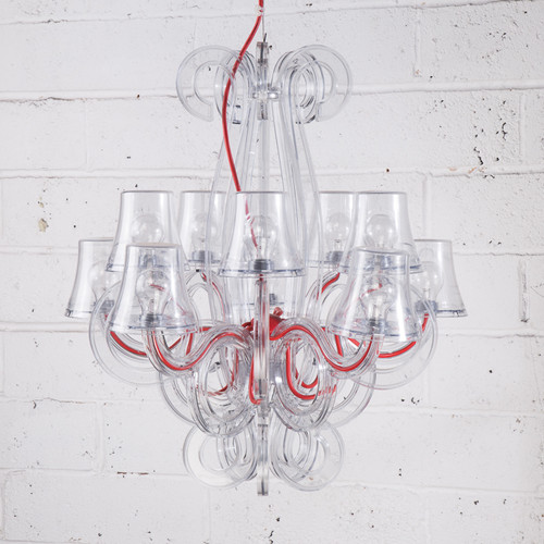 Lighting perspex chandelier aloadofball Choice Image