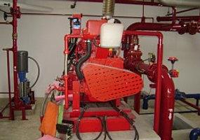 Fire pump relief valve waste cone