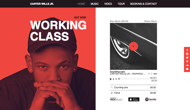 Solo Artist Website Templates | Music | Wix Page 2