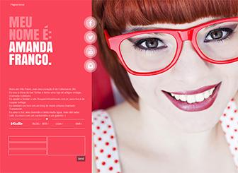 Página Pessoal Template - Template charmoso de uma só página tem um design chique e cores vibrantes. Modelo perfeito para